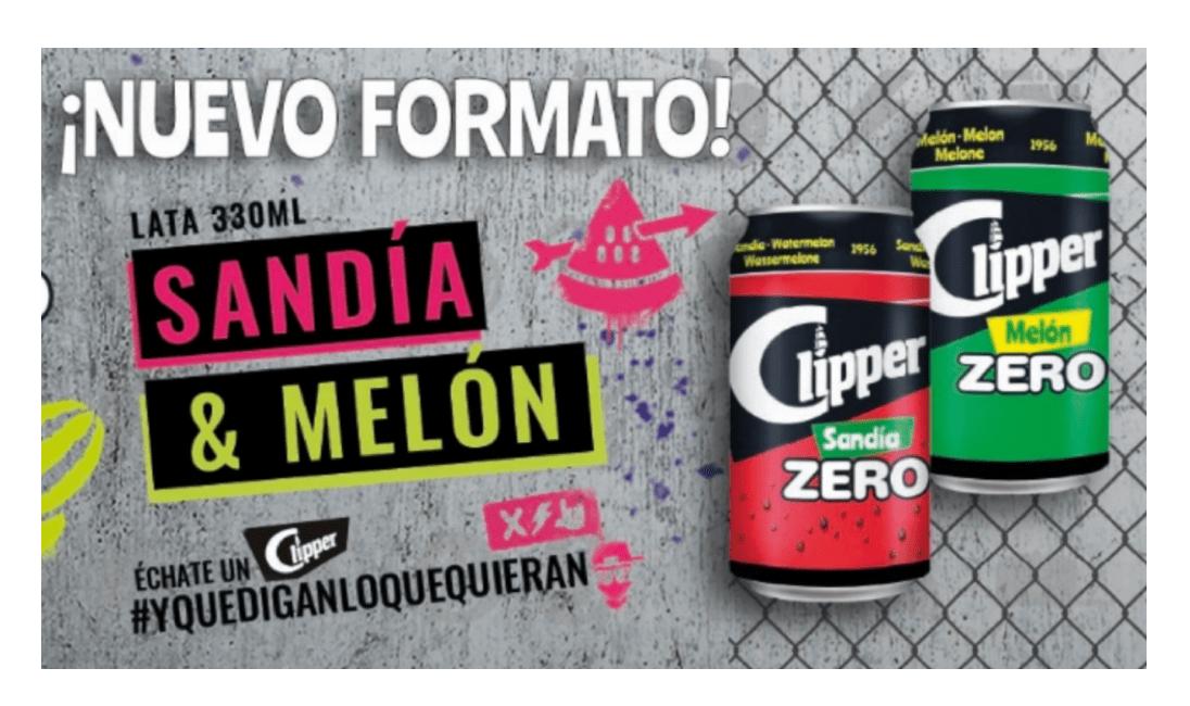 Ahora tu refresco Clipper Sandía y Melón ZERO también en lata.